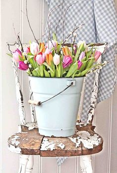 Tulip bucket, Easter