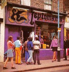 Kleptomania boutique in Carnaby Street, London, 1966.