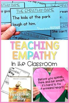 Teaching Empathy in the Classroom Teaching Empathy in the Classroom,Responsive Classroom Teach empathy in the classroom with these lessons and activities that build compassion, social skills, social emotional learning and social awareness. Teaching Empathy, Teaching Kindness, Kindness Activities, Counseling Activities, Teaching Activities, Therapy Activities, Classroom Activities, Classroom Ideas, Character Education Lessons