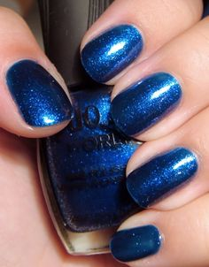 Something about blue nail polish makes me happy!