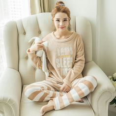 pijamas Pajamas Women Adult Flannel Pajamas For women Animal Pyjama Suits Adult Winter Garment Cute Cartoon Pajama