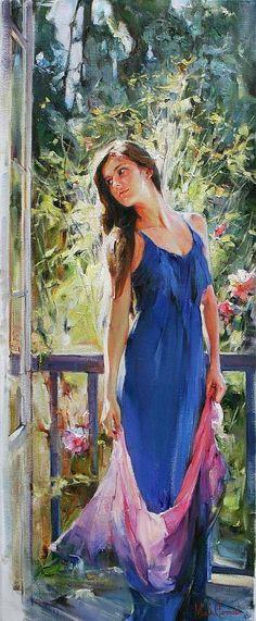 Любая женщина похожа на цветок...   Michael and Inessa Garmash (Живопись и Графика). Обсуждение на LiveInternet - Российский Сервис Онлайн-Дневников