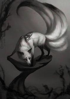 Gumiho - Nine tailed shefox Rhythm Tails by JadeMere