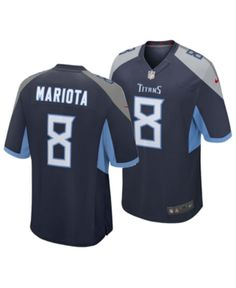 Nike Men s Marcus Mariota Tennessee Titans Game Jersey - Blue M e09d544ba