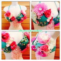 Floral Fairy Rave Bra - Size 36C -- Original Electronic Couture on Etsy, $60.00