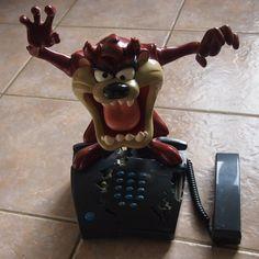 Taz Tasmanian Devil Animated Novelty Telephone Landline Looney Toons