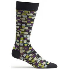 Mens Cubist Composition Sock