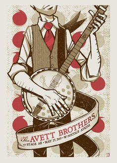 The Avett Brothers - show poster - May 27, 2011