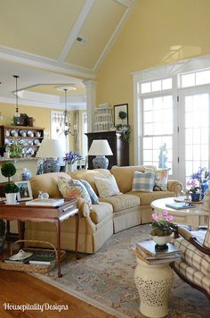 Great Room Spring Refresh-Housepitality Designs