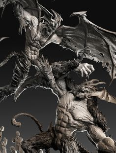 -Amon Vs Devilman- Diorama by David Molina   Creatures   3D   CGSociety