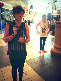 Luke and Ashton shopping together