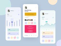Here are 21 latest mobile app ui designs in The best resoures to get insightful app design inspiration for UX/UI desingers. Best App Design, Web Design, App Ui Design, Mobile App Design, Interface Design, User Interface, Design Color, Logo Design, Graphic Design