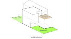 Projet : Axonométrie_ Les espaces extérieurs Cos, Father, Outdoor Areas, Pai, Dads