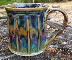 Olson Stoneware - Faceted Mug -  beautiful glaze