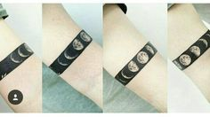 blackwork moon phases arm band, pin: morganxwinter