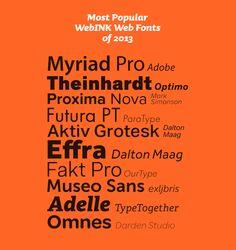 Most Popular WebINK Web Fonts of 2013