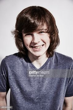 Actor Chandler Riggs of 'The Walking Dead' poses for a portrait at the Getty Images Portrait Studio Powered By Samsung Galaxy At Comic-Con International 2015 at Hard Rock Hotel San Diego on July 11,...