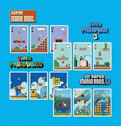Mario Playing Cards NAP-04 (Game Stage) by Nintendo