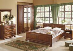 Spálňa - Black Red White - Bawaria 2 Do detailov prepracovaný dizajn tohto nábytku v prevedení z orechového dreva dodá Vašej spálni ten pravý nádych prírody.