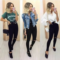 Outfits idea for spring - ChicLadies. Cute Casual Outfits, Casual Chic, Look Fashion, Fashion Outfits, Womens Fashion, Outfits Leggins, Smart Casual Women, Professional Outfits, Everyday Outfits