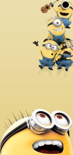 Band of Minions of Despicable Me by BlackBindy Galaxy S10 Hole-Punch Wallpaper