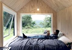 Sydney-based design and construction company Fresh Prince designs tiny houses used for off-the-grid vacations, but that contain all the necessary amenities to live in. Tyni House, Tiny House Cabin, Tiny House On Wheels, Cabana, Going Off The Grid, Tiny Cabins, Tiny House Movement, Glamping, Small Spaces