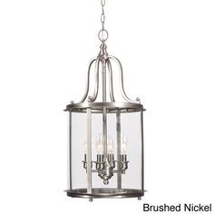 Gillmore 4-light Clear Glass Shade Hall/ Foyer Lantern Overstock.com