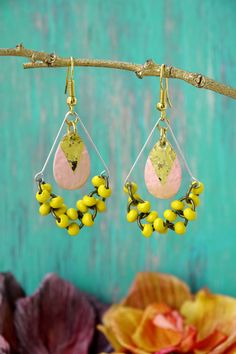 Boho chic/hippie/modern earrings/spring/summer by FuLoves on Etsy