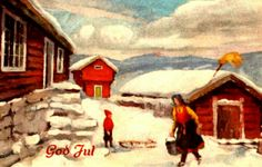 Julekort Julekort Paul Lillo-Stenberg Norsk Arbeide