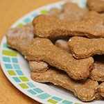 Dogs will lick up every last crumb of these crunchy peanut butter-flavoured biscuits created by Nicole Young. Plus the fresh mint and parsley help freshen their breath, too. For a small dog, use a smaller cutter.