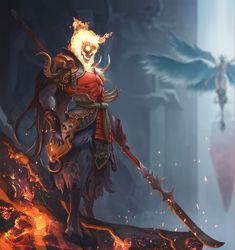 The defender of the tomb, shawn lee on ArtStation at https://www.artstation.com/artwork/LxmRv