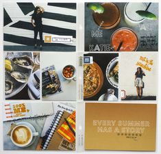 Kelly Purkey #ProjectLife Week29 - love the bold, dark colors in this spread and the pops of orange/brown/red. Just lovely!