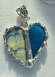 Czechoslovakian Heart Handcrafted with Stained Glass Pendant Necklace Unique | eBay