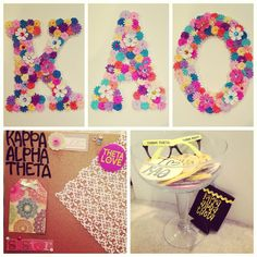 love the idea of using flowers to cover the letters