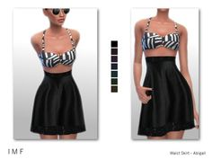 The Sims Resource: Waist Skirt - Abigail by IzzieMcFire • Sims 4 Downloads