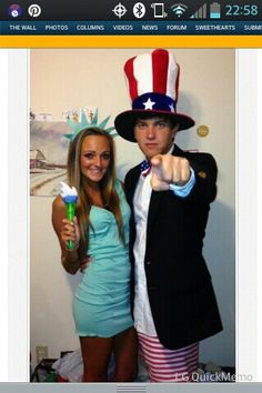 lady liberty & uncle Sam