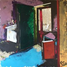 A casa di Elisa - acrylics on canvas cm. 100x100 Painting by Gianluca Dal Bianco
