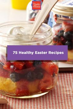 Looking to lighten your Easter dinner up? We've got the recipes for you! Check out these healthy Easter recipes, from apps to dessert, that are light in calories but full of flavor. Easter Dinner, Easter Brunch, Grilled Pork, Pork Roast, Home Recipes, Easter Recipes, Breakfast Recipes, Appetizers, Apps