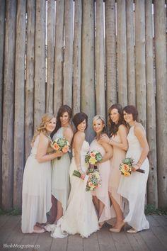 Rustic Wedding at The Hanger in Fort Edmonton. Rustic Wedding, Bridal Party, Wedding Party, Dessy Collection, Alvina Valenta