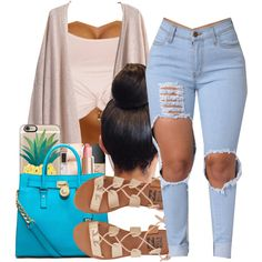 A fashion look from April 2016 by shamyadanyel featuring Topshop, Billabong, Michael Kors and Casetify