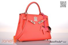 9cd4a5a115c HERMES KELLY BAG 28cm ROUGE PIVOINE WITH PALLADIUM HARDWARE Hermes Kelly Bag,  Vintage Tops,