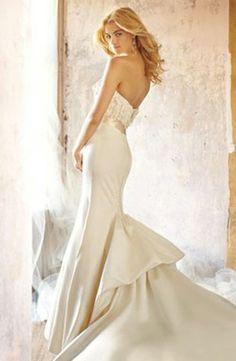 Alvina Valenta - Strapless Mermaid Gown in Satin