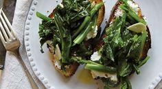 Broccoli Rabe and Ricotta Toasts