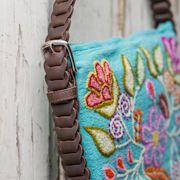 Embroidered Cross Body Bag is handmade, uniquely made in Peru and Mexico with 100% of the profits going towards orphans, widows and street kids in Africa.  www.love41.com