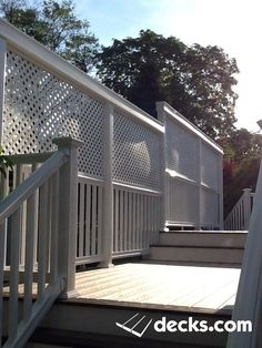 This customer wanted Privacy as the deck was raised higher then the fence Creative Deck Ideas, Deck Design, House Design, Deck Pictures, Outdoor Living, Outdoor Decor, Outdoor Ideas, Deck Builders, New Deck