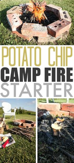 How to start your camp fire using potato chips!