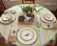 Chirping Into Spring Tablescape