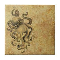 octopus illustration vintage - Google Search