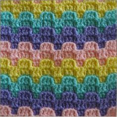 Named after the tops of European castles, the Bargello Crochet Stitch Pattern is a unique and useful stitch pattern.