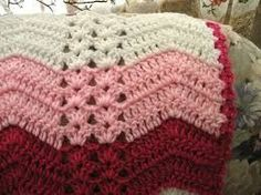 shell and post stitch ripple afghan - Google Search